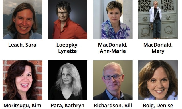 Our Festival Authors – L to R