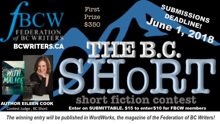 Federation of BC Writers Short Story Contest Opens