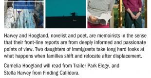 Harvey & Hoogland Reading Event Mar. 11, 7pm